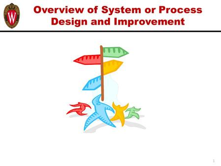 Overview of System or Process Design and Improvement 1.