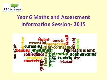 Year 6 Maths and Assessment Information Session- 2015.