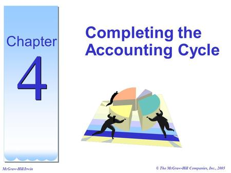 © The McGraw-Hill Companies, Inc., 2005 McGraw-Hill/Irwin Completing the Accounting Cycle Chapter 4 4.