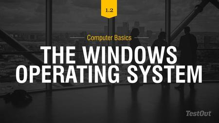 THE WINDOWS OPERATING SYSTEM Computer Basics 1.2.