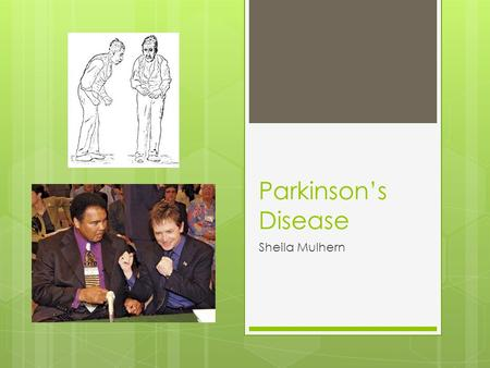 Parkinson's Disease Sheila Mulhern. Parkinson's Disease Stats (PDF)  One million Americans live with Parkinson's disease, - more than the combined number.