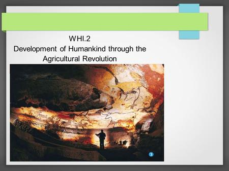 WHI.2 Development of Humankind through the Agricultural Revolution.