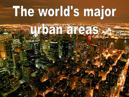 Urbanisation can be defined as either: The process by which there is an increase in the number of people living in urban areas; or The increase in the.