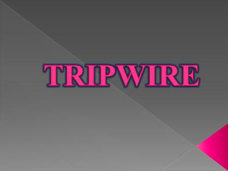 Introduction  Tripwire For Servers  Tripwire Manager  Tripwire For Network Devices  Working Of Tripwire  Advantages  Conclusion.