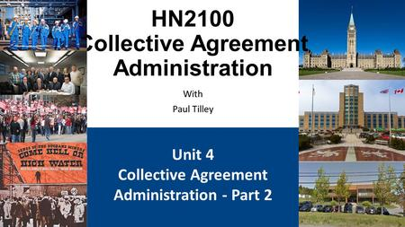 HN2100 Collective Agreement Administration