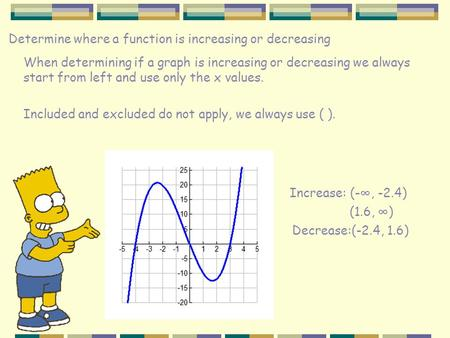 how to find if a function is increasing or decreasing