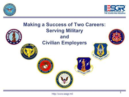 1 Making a Success of Two Careers: Serving Military and Civilian Employers.