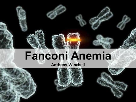 Fanconi Anemia Anthony Winchell. What is Fanconi Anemia?