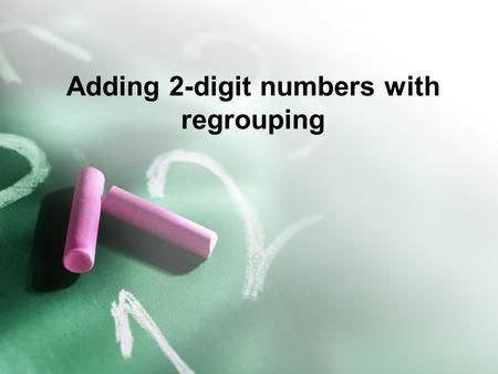 Adding 2-digit numbers with regrouping. Always add the ones place first. 45 + 47.