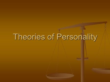 Theories of Personality. Psychoanalytic Approach see separate assignment. Questions from book. see separate assignment. Questions from book. Freud – Defense.