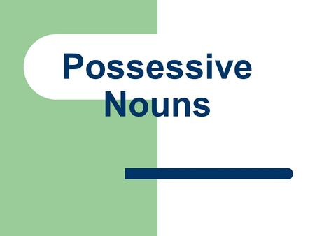 Possessive Nouns Noun Review: Singular Nouns – One person, place, or thing- dog, boy, store Plural Nouns (add an -s, -es, or -ies) – More than one person,