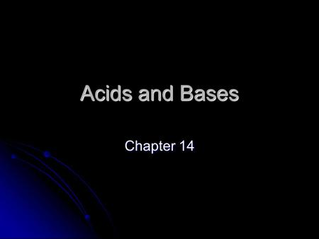 Acids and Bases Chapter 14. Brønsted-Lowry Theory Brønsted-Lowry describes reactions of acids as involving the donation of a hydrogen ion (H + ) Brønsted-Lowry.