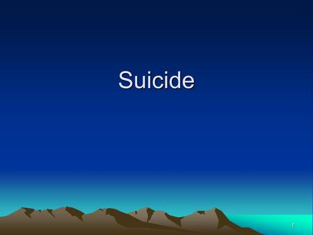 1 Suicide. 2 Press articles suggest a link between the winter holidays and suicides. However---- This claim is just a myth. In fact, suicide rates in.