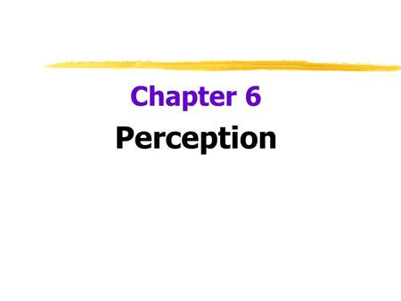 Chapter 6 Perception.  How do we create meaning out of sounds?  Selective Attention  focus of conscious awareness on a particular stimulus  Focus.