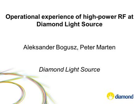 Operational experience of high-power RF at Diamond Light Source