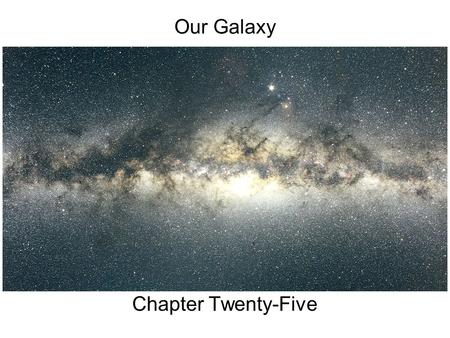 Our Galaxy Chapter Twenty-Five. Guiding Questions 1.What is our Galaxy? How do astronomers know where we are located within it? 2.What is the shape and.