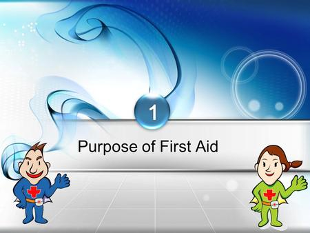 Korean Red Cross Purpose of First Aid Important Definitions  First Aid: Emergency treatment administered to an injured or sick person be fore 119 professional.