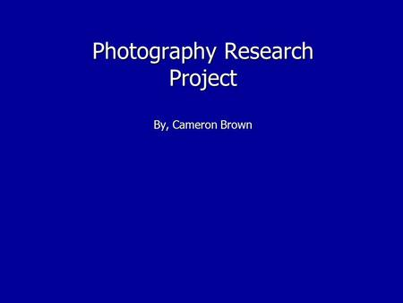 Photography Research Project By, Cameron Brown. Marilyn Bridges Marilyn Bridges was born December 26, 1948 in Newark, NJ. She went to Rochester Institute.