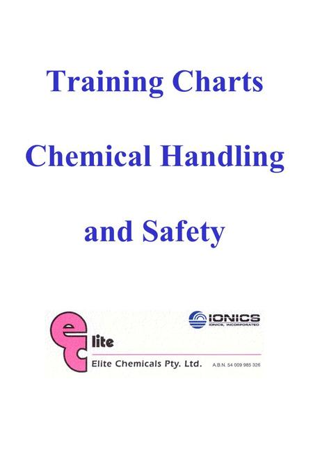 Training Charts Chemical Handling and Safety