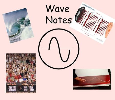 Wave Notes. What types of waves can you think of?