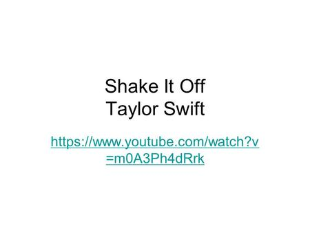 Shake It Off Taylor Swift