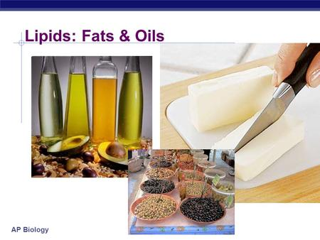 AP Biology Lipids: Fats & Oils AP Biology Lipids long term energy storage concentrated energy.