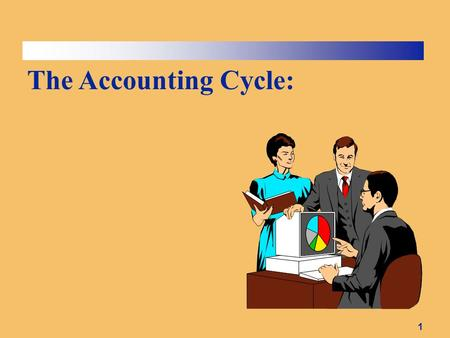 1 The Accounting Cycle:. 2 The Accounting Cycle 1 - Journalize transactions. 2 - Post entries to the ledger accounts. 3 - Prepare un- adjusted trial balance.