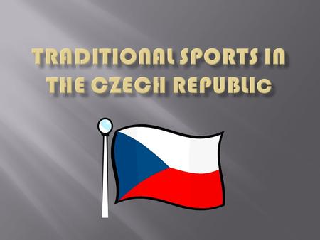  Sport plays a significant part in the life of many Czechs who are generally loyal supporters of their favourite teams or individuals.  The two leading.