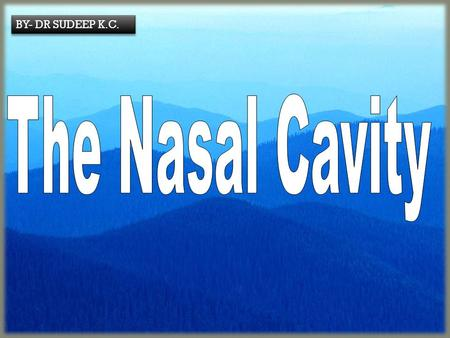 BY- DR SUDEEP K.C.. The Nasal Cavity: Functions  The superior part of the respiratory tract  A passageway for air to lungs  Filters impurities esp.