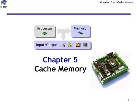 1 Chapter 5 Cache Memory Chapter Five : Cache Memory Memory Processor Input/Output.