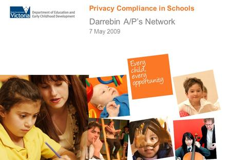 Privacy Compliance in Schools Darrebin A/P's Network 7 May 2009.