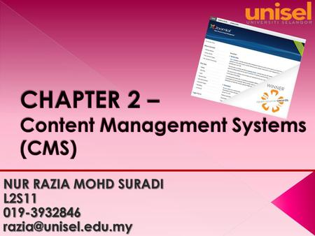  A content management system ( CMS ) is a system providing a collection of procedures used to manage work flow in a collaborative environment. These.