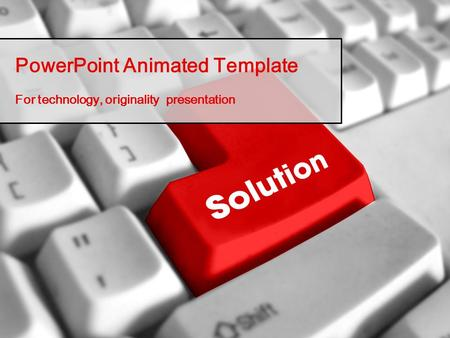 PowerPoint Animated Template For technology, originality presentation.