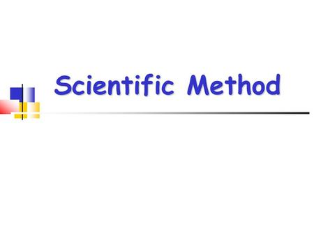 Scientific Method. Steps in the Scientific Method Observation Observation Ask a Question Ask a Question Hypothesis Hypothesis Experiment (Test Hypothesis)