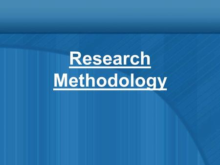 Research Methodology. Topics of Discussion Variable Measurement.