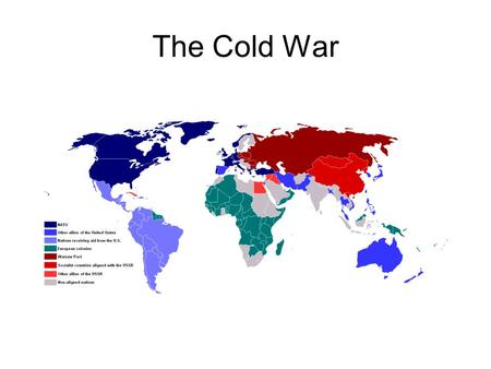 The Cold War. Political and Military tensions between capitalist and communist countries. Cold war – political tensions and military rivalry which falls.