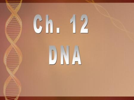 1928 Frederick Griffith 1944 Oswald Avery - repeated Griffith's experiment Proves DNA stores and transmits information.