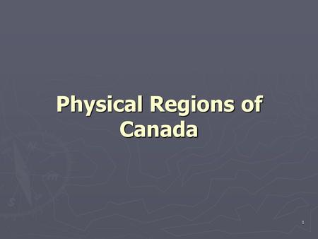 1 Physical Regions of Canada. 2 Western Cordillera ► Mountain chain that runs along the West Coast of Canada and USA ► Plateaus to glaciers to fjords.