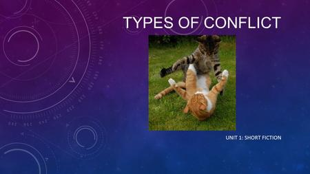 TYPES OF CONFLICT UNIT 1: SHORT FICTION. WHAT IS A CONFLICT? Definition: A struggle between opposing forces; the main problem in a story.