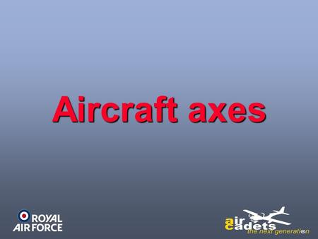 Aircraft axes. PITCH Lateral Axis ROLL Longitudinal Axis.