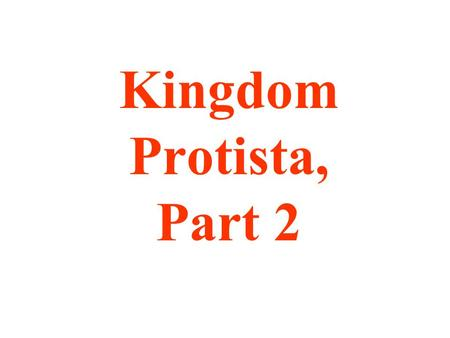 Kingdom Protista, Part 2. Plant-like Protists (27-1 & 27-2) are classified by COLOR.