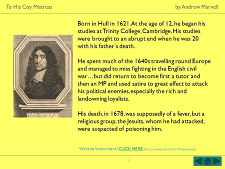 What are the thematic structures in Andrew Marvell's