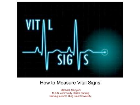 How to Measure Vital Signs