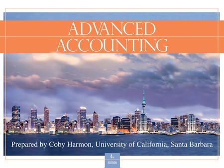 Slide 3-1. Slide 3-2 Consolidated Financial Statements—Date of Acquisition Advanced Accounting, Fourth Edition 33.