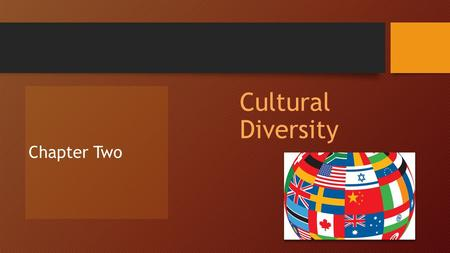 Cultural Diversity Chapter Two. The Meaning of Culture Section One.