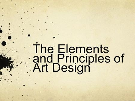 Basic Design Principles In Art : Principles and elements of design applied to architecture ppt