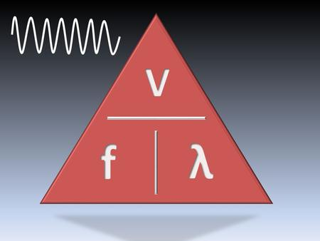 1.The speed of a wave with a frequency of 10kHz and a wavelength of 2m. v = f x λ v = 10,000 x 2 v = 20,000m/s.