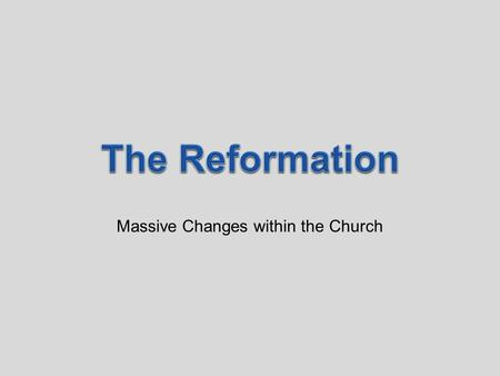 Massive Changes within the Church. SocialPoliticalEconomicReligious The Renaissance values of humanism and secularism led people to question the church.