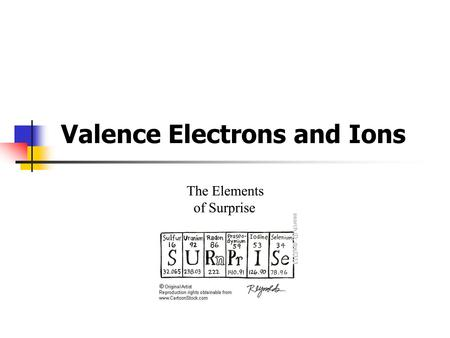 Valence Electrons and Ions. Periodic Table of the Elements.