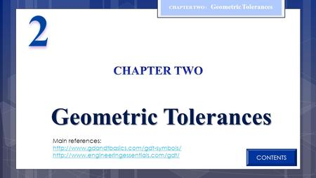CHAPTER TWO : Geometric Tolerances
